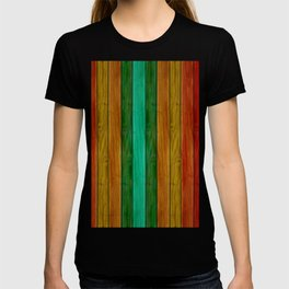 Colorful Wood Texture T-shirt