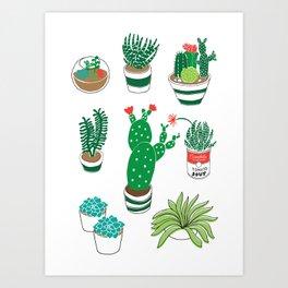 Illustrated Cactii Art Print