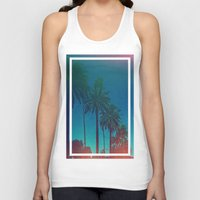 los angeles Tank Tops featuring Los Angeles. by Polishpattern