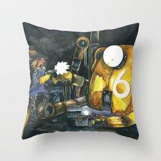 Moonbot #6: Yellow Throw Pillow