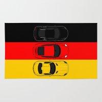 german Area & Throw Rugs featuring German Horsepower by Blayde