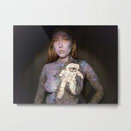 Astronaut Body Painting Metal Print