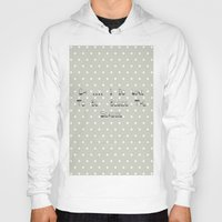 calendars Hoodies featuring Oh .... i do like to be beside the seaside ~ polka dot ~ poster ~ typography ~ illistration by Shabby Design Studio