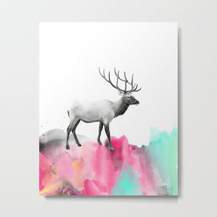 Wild No. 2 // Elk Metal Print