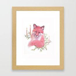 CHRISTMAS FOX 2017 Framed Art Print