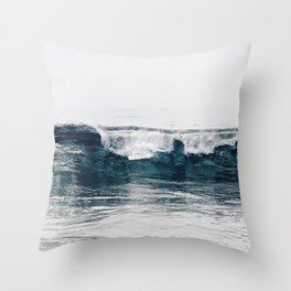 Glassy Blues Throw Pillow