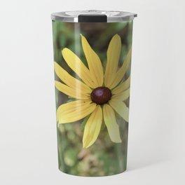 Vintage Yellow Flower Travel Mug