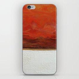 Northern Lights (red) Original Encaustic Painting iPhone Skin