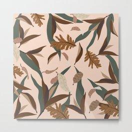 Botanical leaves fall 01 Metal Print