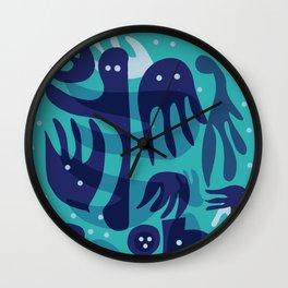 Underwater Joyful Creatures illustration  Wall Clock