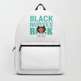 Black Nurses Rock Doctor Medical Health Check Nursing Aide CNA Physician Medic Hospital Gift Backpack