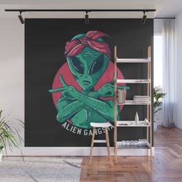 Alien Gangsta Wall Mural