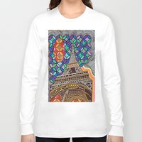 eiffel tower Long Sleeve T-shirts featuring Eiffel Tower by Art By Carob