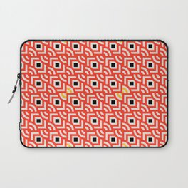 Round Pegs Square Pegs Red-Orange Laptop Sleeve
