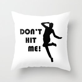 Funny Dodgeball Dont Hit Me  Throw Pillow
