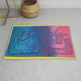 Be Aware of the Snakes in the Grass (Triptych, right) Rug
