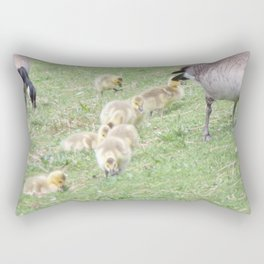 Baby Canadian Geese, Wild Geese, Animals in the Wild Rectangular Pillow