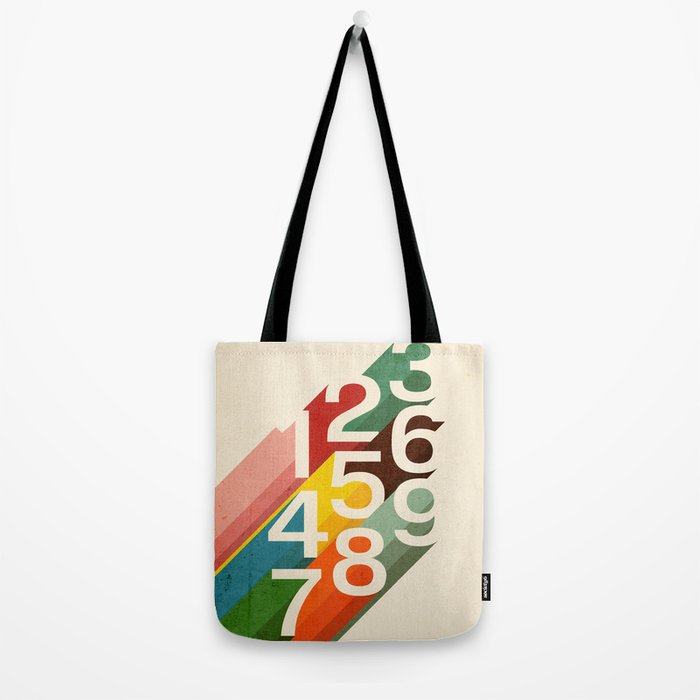 Retro Numbers Tote Bag