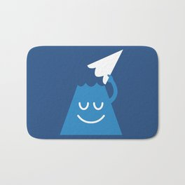 A Friendly Mountain Greeting Bath Mat
