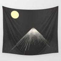 brad pitt Wall Tapestries featuring Mountains Peak ( version 2) by Tammy Kushnir