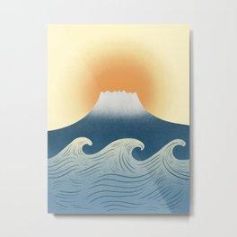 Great wave 4 Abstraction landscape mount Fuji  Metal Print