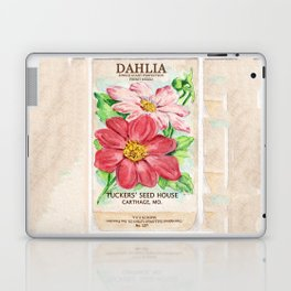 Dahlia Seed Packet Laptop & iPad Skin