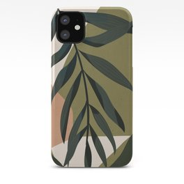 Tropical Leaf- Abstract Art iPhone Case