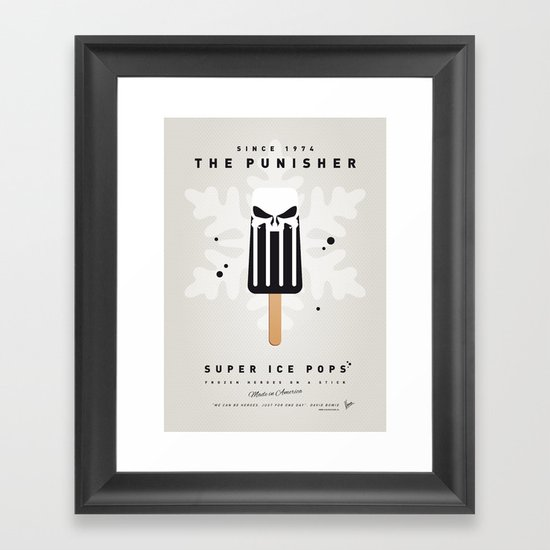 My SUPER ICE POP- No14 Framed Art Print