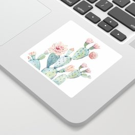 Cactus 2  White #society6 #buyart Sticker