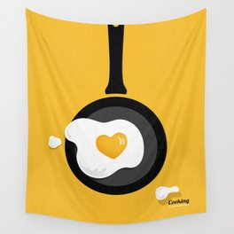 Cooking Is Love Wall Tapestry