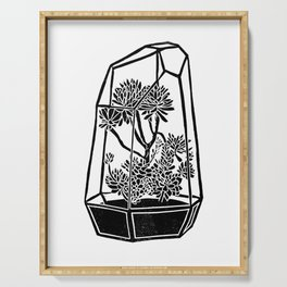 Terrarium Block Print Serving Tray