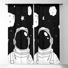 Astronaut and Asteroids Blackout Curtain