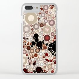 Earth ToneMulti Bubble Pattern Design Clear iPhone Case