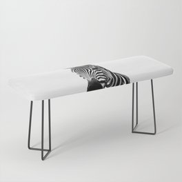 Black and white zebra illustration Bench