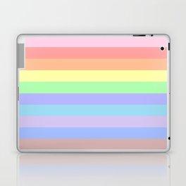 Pastel Rainbow Stripes Laptop & iPad Skin