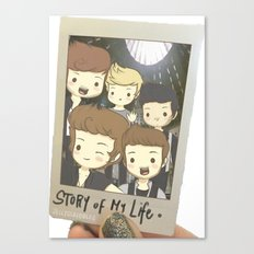 One Direction Story of My Life Cartoon Canvas Print