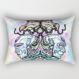 Robots vs Dodo - Festival - Colorful - Art by Lana Chromium Rectangular Pillow