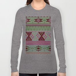 Neon Aztec Long Sleeve T-shirt