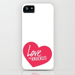 Love and Knuckles (Heart Graphic) iPhone Case