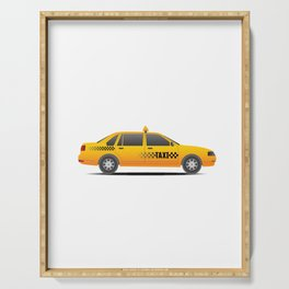 Taxi Driver Serving Tray