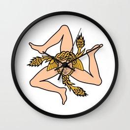 Sicilian triskelion - Flag of Sicily Wall Clock