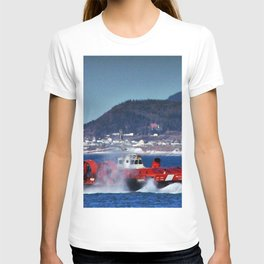 Hovercraft Racing to Town T-shirt
