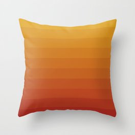 Gradient, Yellow Red Throw Pillow