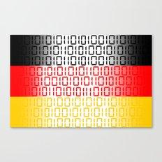 digital Flag (Germany) Canvas Print