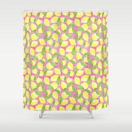 Pink Lemonade Pattern Shower Curtain
