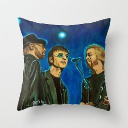 Bee Gee's Throw Pillow