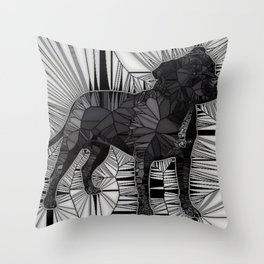 Staffordshire Bull Terrier Mosaic Throw Pillow