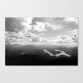 View of Lake Placid Canvas Print