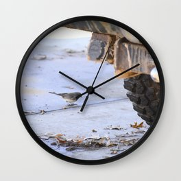 Junco and a Truck Wall Clock