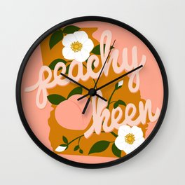 Peachy Keen Wall Clock